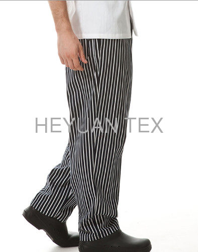 100% Cotton Windbreak Chef Wear Pants / Quick Dry Kitchen Striped Chef Pants
